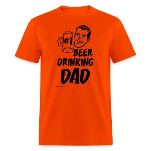 #1 Beer Drinking Dad Men's T-Shirt - Men's T-Shirt