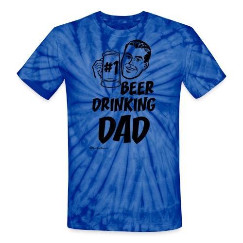#1 Beer Drinking Dad Unisex Tie Dye T-Shirt - Unisex Tie Dye T-Shirt