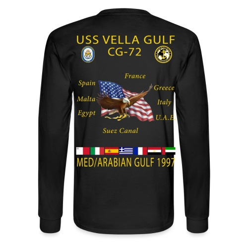 USS VELLA GULF CG-72 1997 CRUISE SHIRT - LONG SLEEVE - Men's Long Sleeve T-Shirt