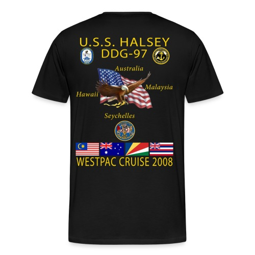 USS HALSEY DDG-97 2008 CRUISE SHIRT - Men's Premium T-Shirt