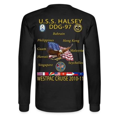 USS HALSEY DDG-97 2010-11 CRUISE SHIRT - LONG SLEEVE - Men's Long Sleeve T-Shirt