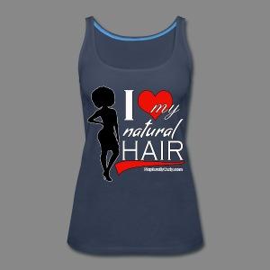 Love Natural Hair Afro (Tank) - Women's Premium Tank Top