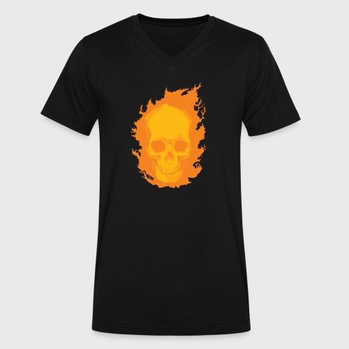 ghost rider skull - Men's V-Neck T-Shirt by Canvas
