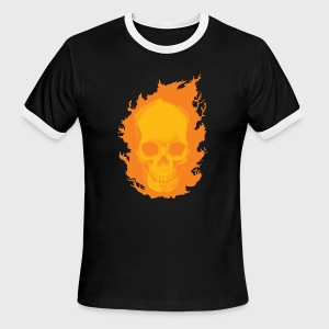 ghost rider skull - Men's Ringer T-Shirt