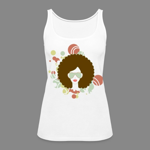 Brown Afro Abstract (Tank) - Women's Premium Tank Top