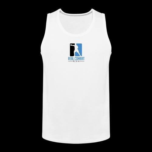 Real Combat Media White Classic Edition Tank Top - Men's Premium Tank