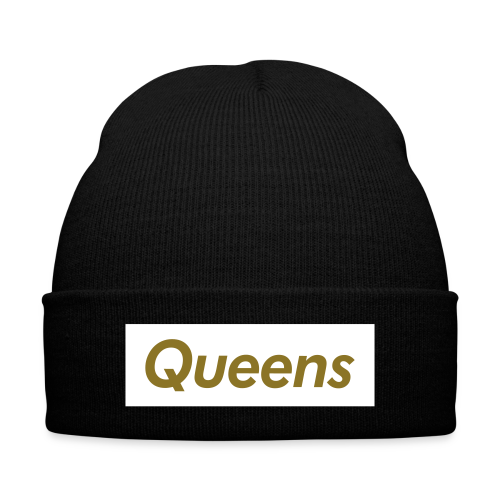 Unisex - Queens Beanie - Knit Cap with Cuff Print