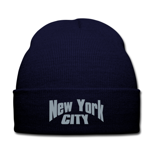 Unisex - NYC Beanie - Knit Cap with Cuff Print