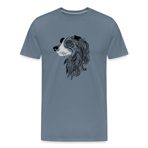 Who Let The Dogs Out - Tribal Puppy Men's Premium T-Shirt from South Seas Tees - Men's Premium T-Shirt