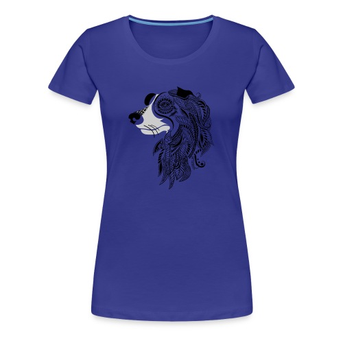 Who Let The Dogs Out - Tribal Puppy Women's Premium T-Shirt from South Seas Tees - Women's Premium T-Shirt