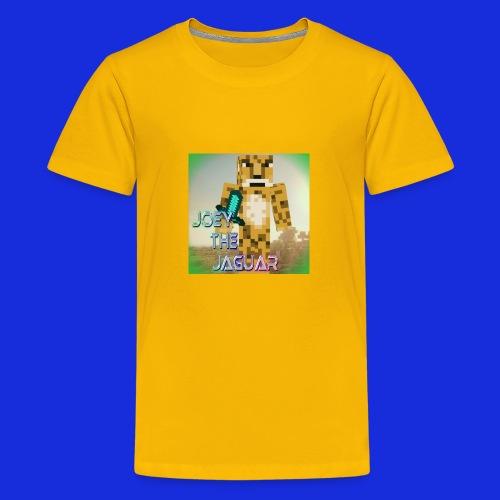JoeyTheJaguar Shirt With Text On Back - Kids' Premium T-Shirt