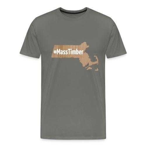 #MassTimber White - Men's Premium T-Shirt
