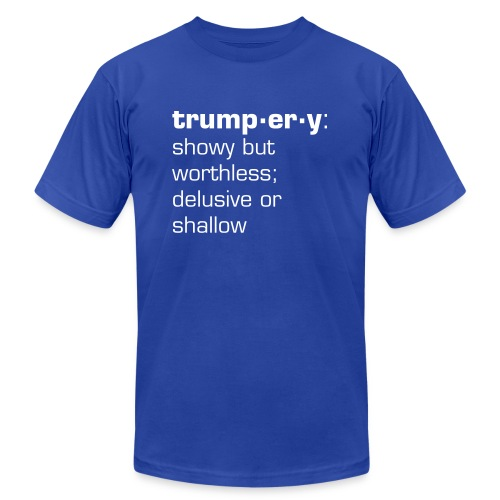 trumpery: showy but worthless - Men's Fine Jersey T-Shirt