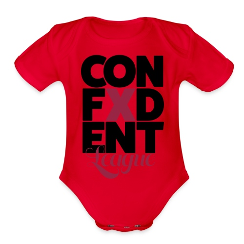 Confident league - Organic Short Sleeve Baby Bodysuit