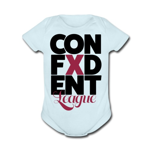 Confident league - Organic Short Sleeve Baby Bodysuit