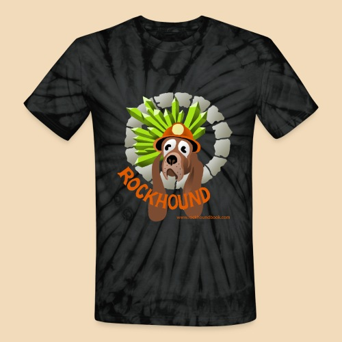 Rockhound GREY Tie Dye T Shirt - Unisex Tie Dye T-Shirt