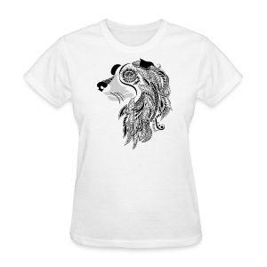 Who Let The Dogs Out - Tribal Puppy Women's T-Shirt from South Seas Tees - Women's T-Shirt
