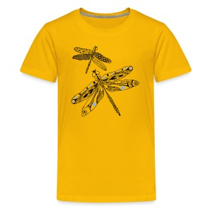 Tribal Dragonfly Kids Premium T-Shirt by South Seas Tees - Kids' Premium T-Shirt