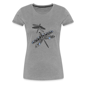 Tribal Dragonfly Women's Premium T-Shirt by South Seas Tees - Women's Premium T-Shirt