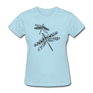 Tribal Dragonfly Women's T-Shirt by South Seas Tees - Women's T-Shirt