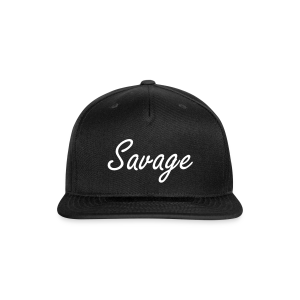 Savage White Letter Snap Back - Snap-back Baseball Cap