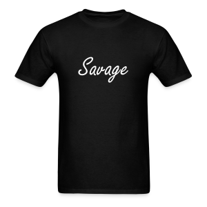 Savage White Letter Tee - Men's T-Shirt