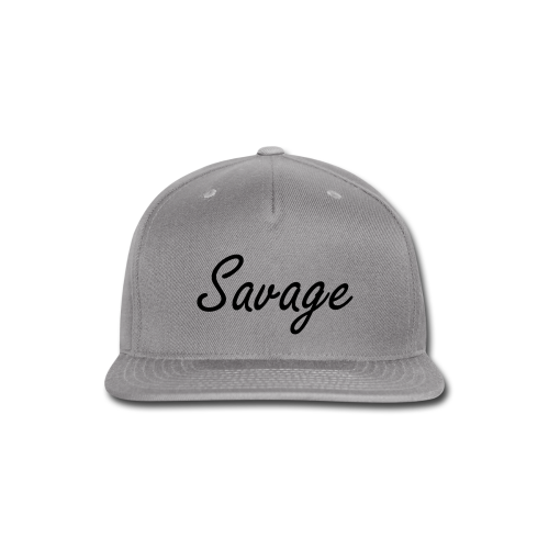 Savage Black Letter Snap Back - Snap-back Baseball Cap