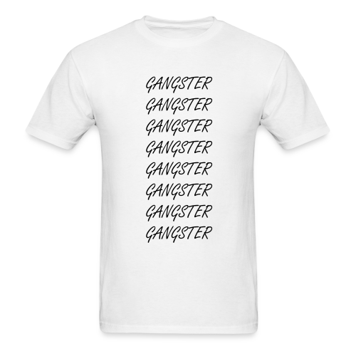 Gangster Black Letter Vertical Tee - Men's T-Shirt