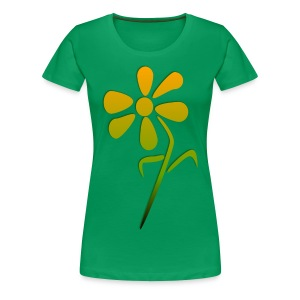 Yellow Flower Mix - Women's Premium T-Shirt