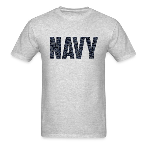 Navy Blue Digital Camo T-Shirts - Men's T-Shirt