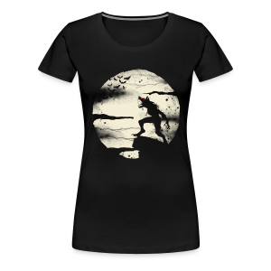 Werewolf With The Full Moon - Women's Premium T-Shirt