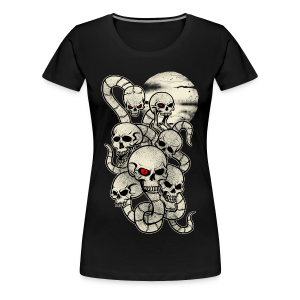 Monster Snake Skeleton - Women's Premium T-Shirt
