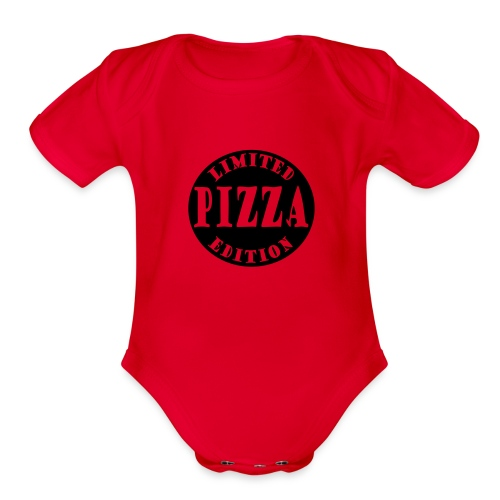 Limited Edition Pizza - Organic Short Sleeve Baby Bodysuit