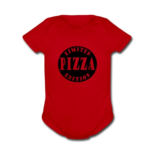 Limited Edition Pizza - Organic Short Sleeve Baby Bodysuit