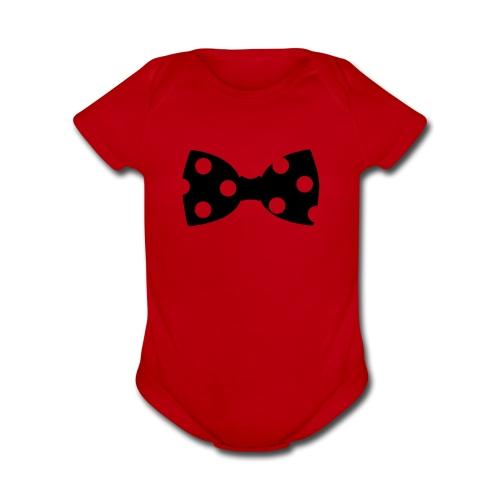 Black Bow - Organic Short Sleeve Baby Bodysuit