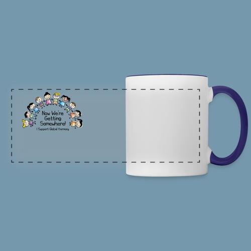 Panoramic Mug - Show that you care with this Global Harmony Design mug