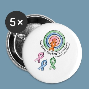 I Support Cancer Research - Large Buttons