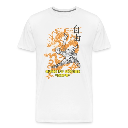 Kung Fu Movies Dope Mens Tee - Men's Premium T-Shirt