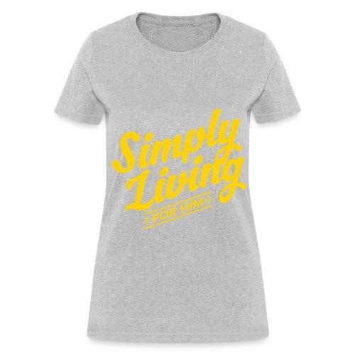 Grey and yellow 2 - Women's T-Shirt