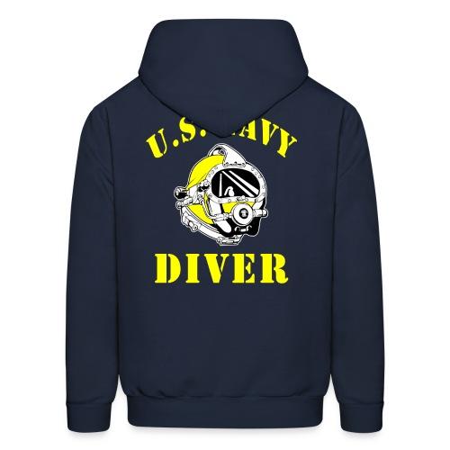 U.S. Navy Diver Hoodie w/ chest logo - Men's Hoodie