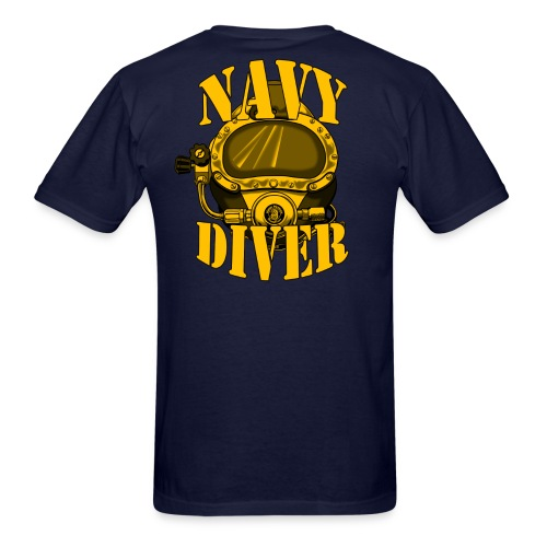 Navy Diver w/ front logo - Men's T-Shirt