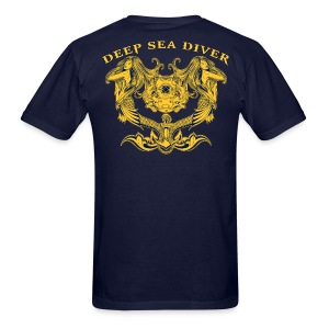 Deep Sea Diver w/ Navy Diver chest logo - Men's T-Shirt
