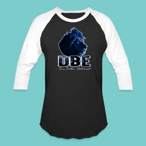 Men's black 3/4 Sleeve Shirt (Blue logo) - Baseball T-Shirt