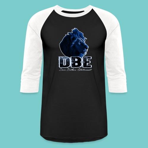 Men's black 3/4 Sleeve Shirt (Blue logo) - Baseball T-Shirt