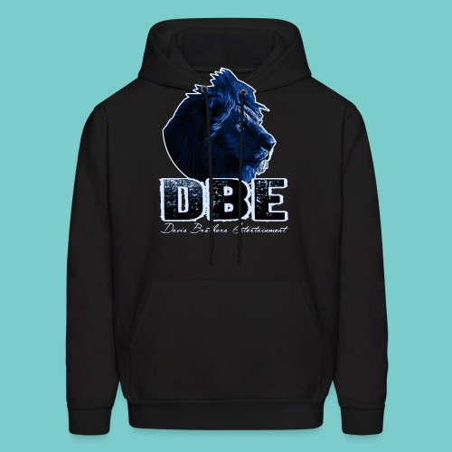 Men's black Sweater (Blue logo) - Men's Hoodie