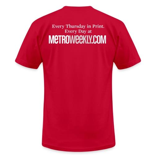 white logo front - Men's Fine Jersey T-Shirt