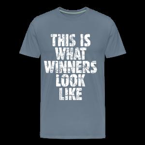 Winner T-Shirt S-5X Vintage/White - Men's Premium T-Shirt