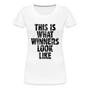 Winner T-Shirt S-3X Vintage/Black - Women's Premium T-Shirt