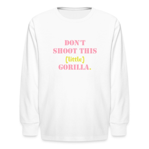 Girl Gorilla 2 - Kids' Long Sleeve T-Shirt