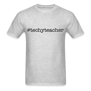 #techyteacher (men's-grey) - Men's T-Shirt